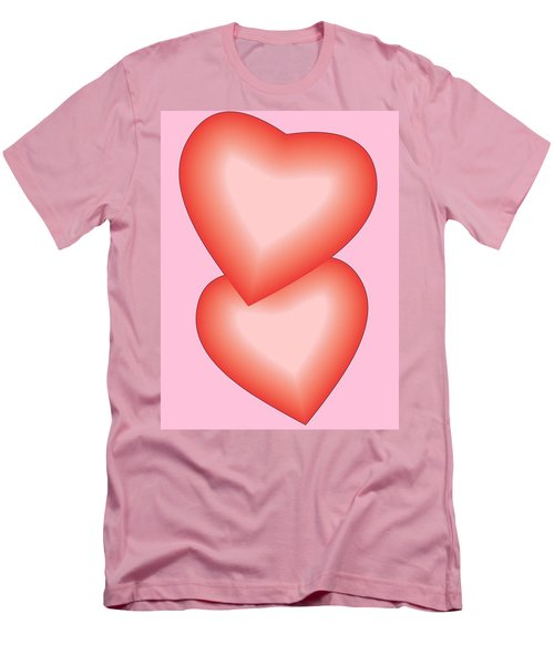 Valentine Hearts Men's T-Shirt (Slim Fit) by Sherril Porter
