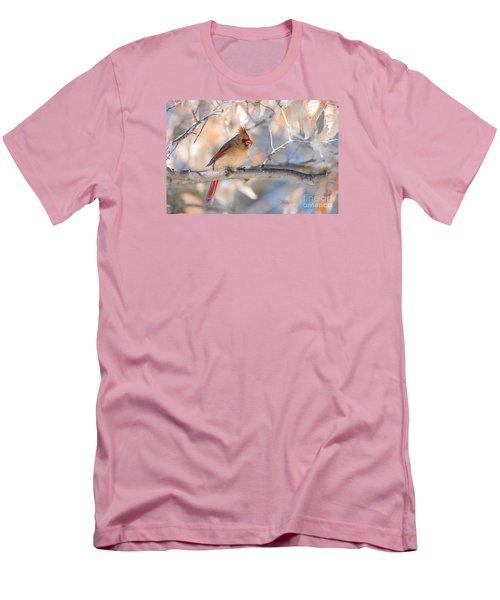Winter Cardinal Men's T-Shirt (Slim Fit) by Debbie Green
