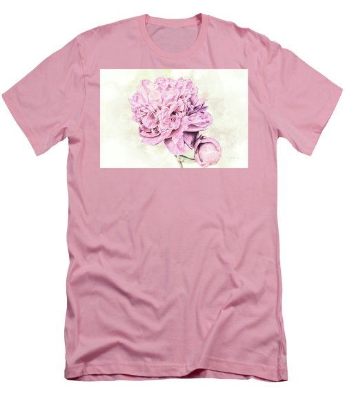 10861 Spring Peony Men's T-Shirt (Slim Fit) by Pamela Williams