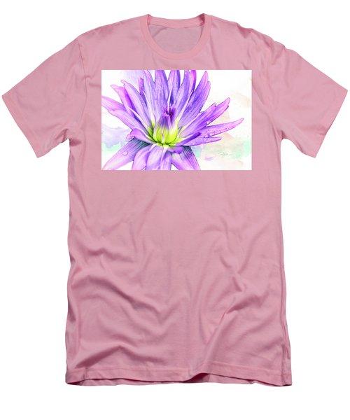 10889 Purple Lily Men's T-Shirt (Slim Fit) by Pamela Williams