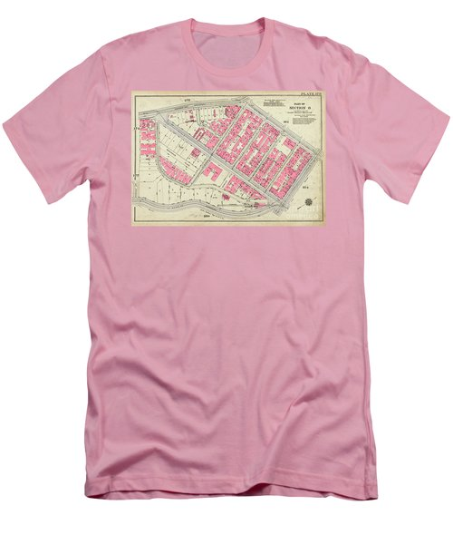 1930 Inwood Map  Men's T-Shirt (Slim Fit) by Cole Thompson