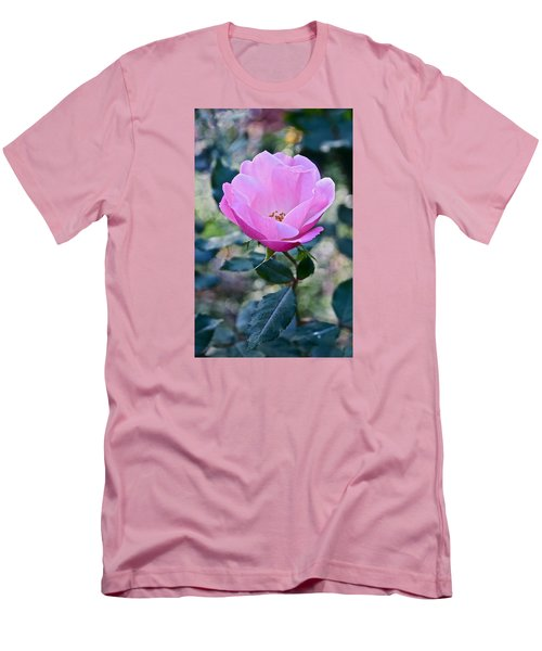 2015 After The Frost At The Garden Pink  Rose Men's T-Shirt (Slim Fit) by Janis Nussbaum Senungetuk