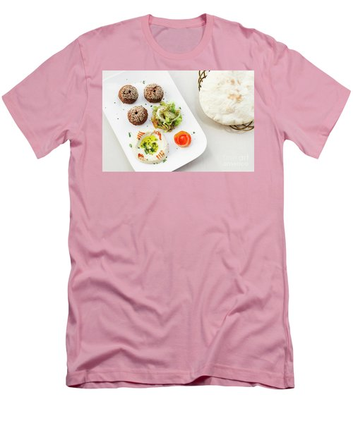 Falafel Hummus Houmus Starter Snack Food Mezze Platter Men's T-Shirt (Athletic Fit)