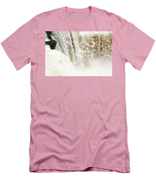 Men's T-Shirt (Athletic Fit) featuring the photograph Iguazu Falls by Silvia Bruno
