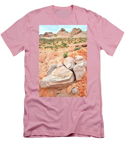 Men's T-Shirt (Slim Fit) featuring the photograph Multicolored Sandstone In Valley Of Fire by Ray Mathis