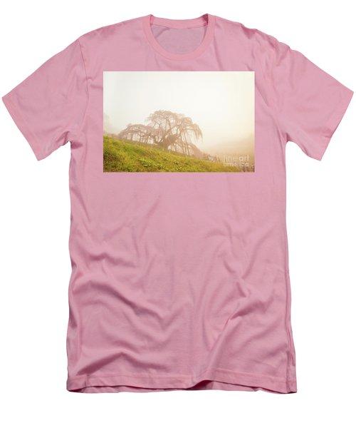 Men's T-Shirt (Athletic Fit) featuring the photograph Miharu Takizakura Weeping Cherry05 by Tatsuya Atarashi