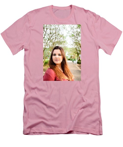 Men's T-Shirt (Slim Fit) featuring the photograph 5545-2 by Teresa Blanton