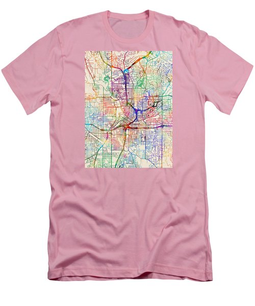 Atlanta Georgia City Map Men's T-Shirt (Slim Fit)
