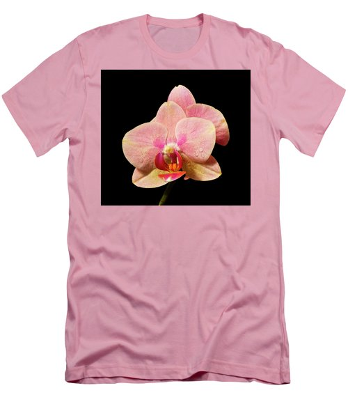 Stunning Orchids Men's T-Shirt (Slim Fit) by David French