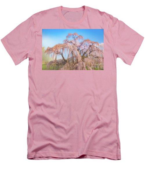 Men's T-Shirt (Athletic Fit) featuring the photograph Miharu Takizakura Weeping Cherry29 by Tatsuya Atarashi