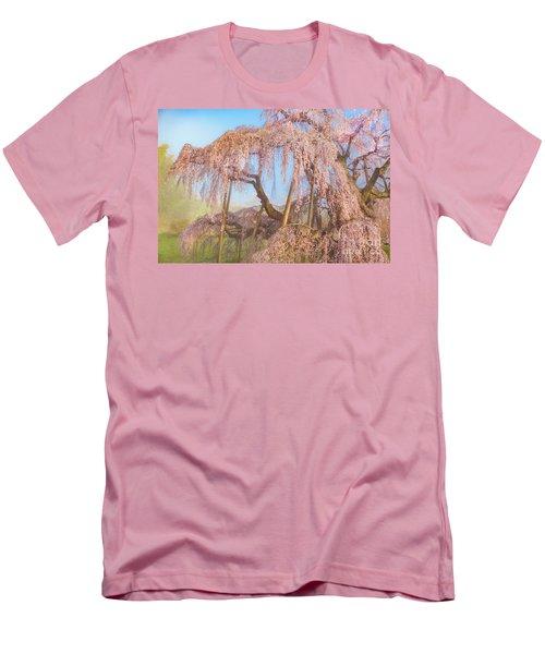 Men's T-Shirt (Athletic Fit) featuring the photograph Miharu Takizakura Weeping Cherry08 by Tatsuya Atarashi