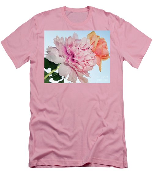 Two Flowers Men's T-Shirt (Athletic Fit)