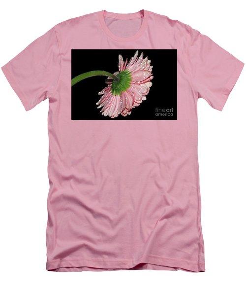 Pink Gerber Men's T-Shirt (Slim Fit) by Elvira Ladocki