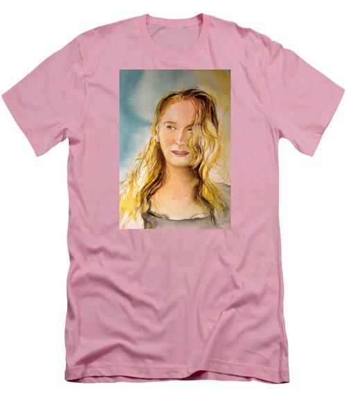 Men's T-Shirt (Slim Fit) featuring the painting A Little Bit Of Meryl by Allison Ashton