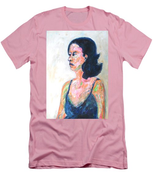 Men's T-Shirt (Athletic Fit) featuring the painting A Modern Madame Bovary by Esther Newman-Cohen