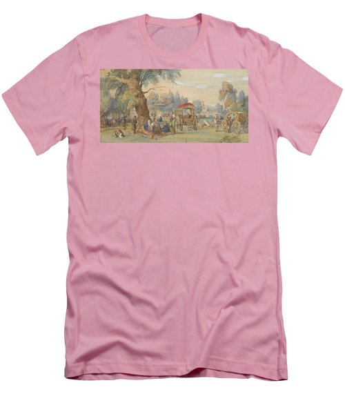 A Party At The Sweet Waters Of The Bosphorus, Constantinople Men's T-Shirt (Athletic Fit)