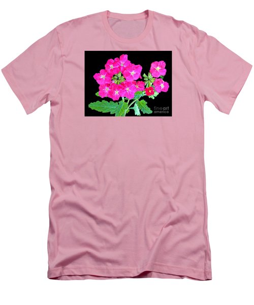 Men's T-Shirt (Slim Fit) featuring the photograph A Ring Of Verbena by Merton Allen