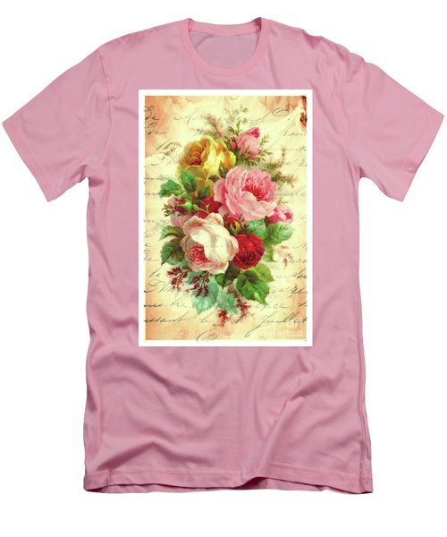 A Rose Speaks Of Love Men's T-Shirt (Slim Fit) by Tina LeCour