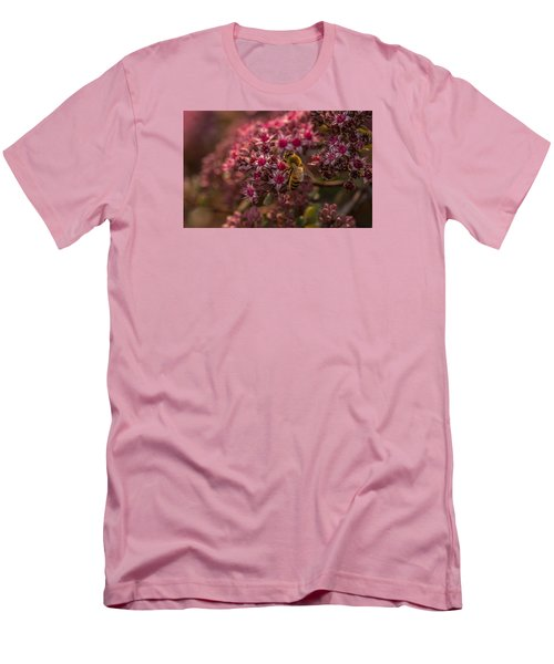 Men's T-Shirt (Slim Fit) featuring the photograph A Summer Bee by Yeates Photography