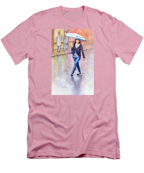 A Walk In The Rain Men's T-Shirt (Slim Fit) by Bonnie Rinier
