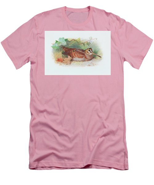 A Woodcock Resting Men's T-Shirt (Athletic Fit)