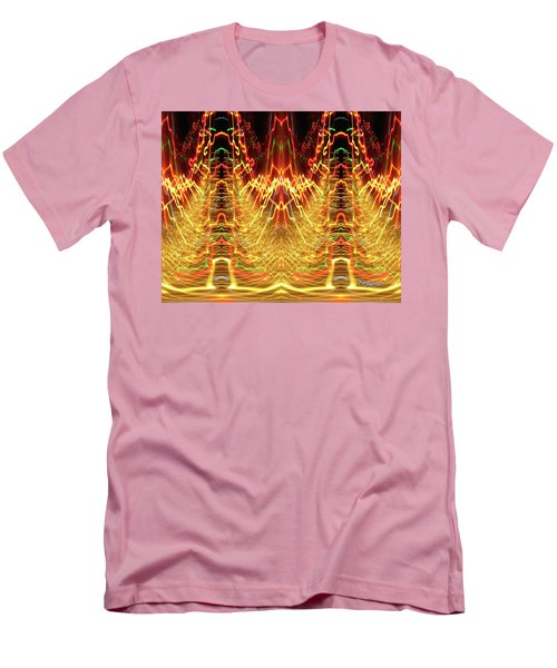 Abstract Christmas Lights #175 Men's T-Shirt (Slim Fit) by Barbara Tristan