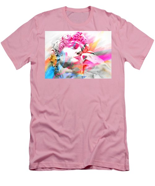 Men's T-Shirt (Slim Fit) featuring the painting Abstract David Michelangelo 5 by J- J- Espinoza