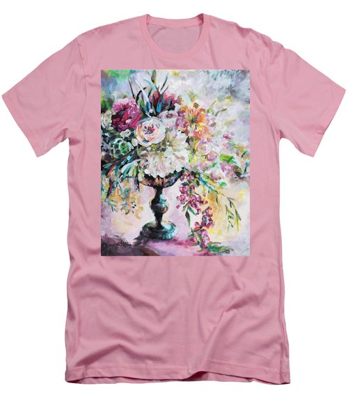 Abstract Floral Men's T-Shirt (Slim Fit) by Arleana Holtzmann