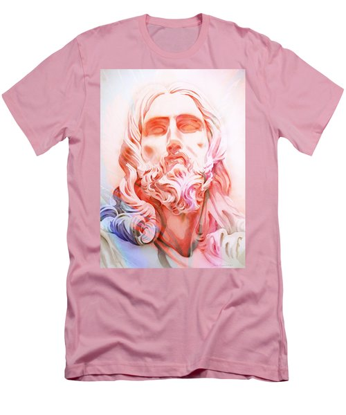 Men's T-Shirt (Slim Fit) featuring the painting Abstract Jesus 1 by J- J- Espinoza