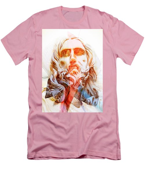 Men's T-Shirt (Slim Fit) featuring the painting Abstract Jesus 2 by J- J- Espinoza