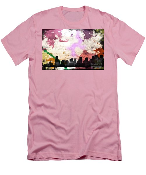 Lightning Strikes  Men's T-Shirt (Slim Fit) by Gary Smith