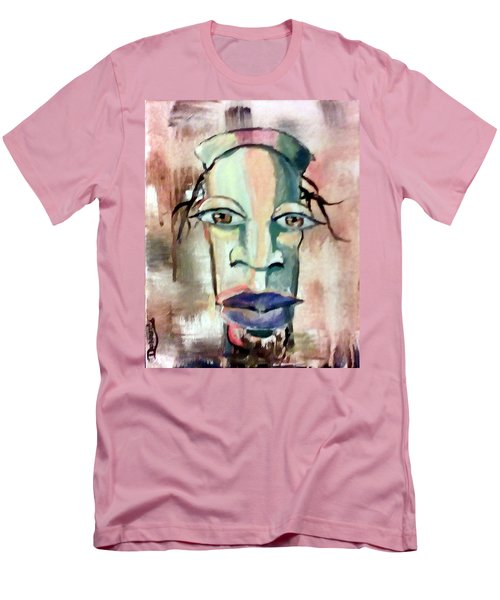 Men's T-Shirt (Slim Fit) featuring the painting Abstract Young Man #2 by Raymond Doward