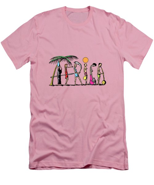 Africa Men's T-Shirt (Slim Fit) by Anthony Mwangi