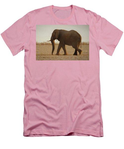 Men's T-Shirt (Slim Fit) featuring the digital art African Elephant Walk by Ernie Echols