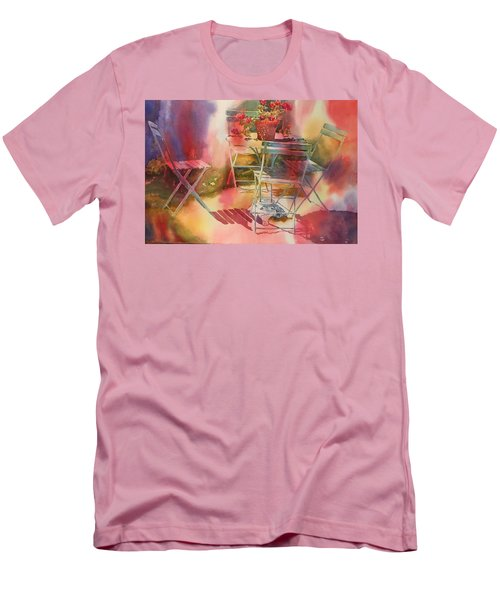 Afternoon Light Giverny, France Men's T-Shirt (Slim Fit) by Tara Moorman