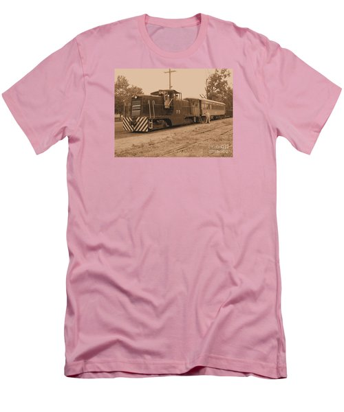 Aged Choo Choo  Men's T-Shirt (Athletic Fit)