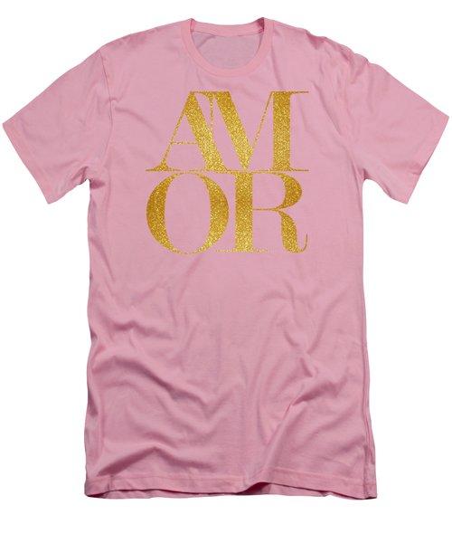 Amor Men's T-Shirt (Slim Fit) by Liesl Marelli