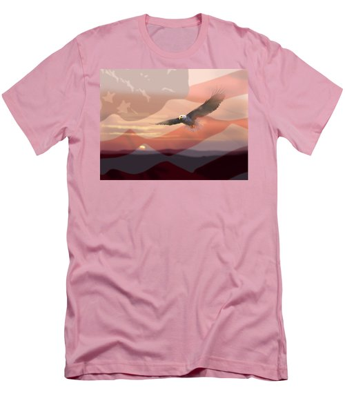And The Eagle Flies Men's T-Shirt (Athletic Fit)