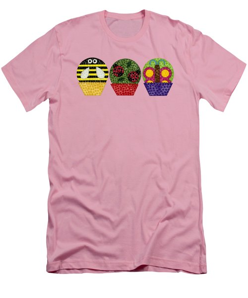 Animal Cupcakes 1 Men's T-Shirt (Slim Fit) by Emily Kim