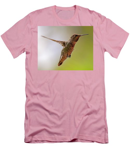 Men's T-Shirt (Athletic Fit) featuring the photograph Anna's Hummingbird H24 by Mark Myhaver