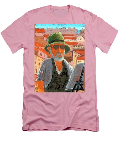 Men's T-Shirt (Slim Fit) featuring the painting Antibes Self by Gary Coleman