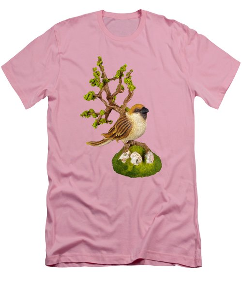 Arborescent Sparrow Men's T-Shirt (Slim Fit) by Przemyslaw Stanuch