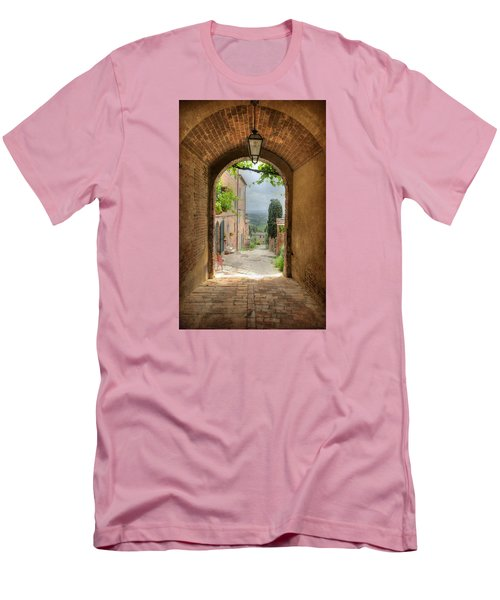 Arched View Men's T-Shirt (Slim Fit) by Uri Baruch