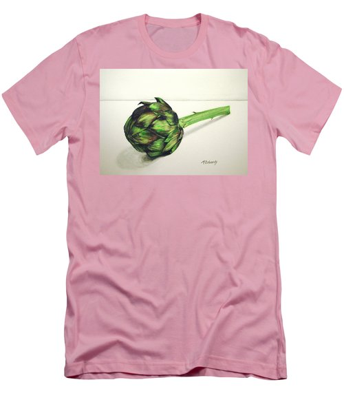 Men's T-Shirt (Slim Fit) featuring the painting Artichoke by Marna Edwards Flavell