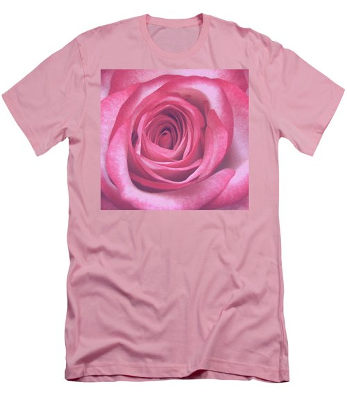 Artistic Red Rose Men's T-Shirt (Athletic Fit)