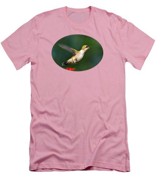 Summer Hummingbird Men's T-Shirt (Slim Fit) by Christina Rollo