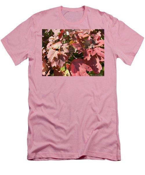 Autumn Leaves Men's T-Shirt (Slim Fit) by Nance Larson