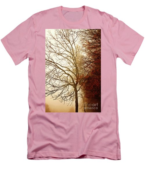 Autumn Morning Men's T-Shirt (Slim Fit) by Stephanie Frey