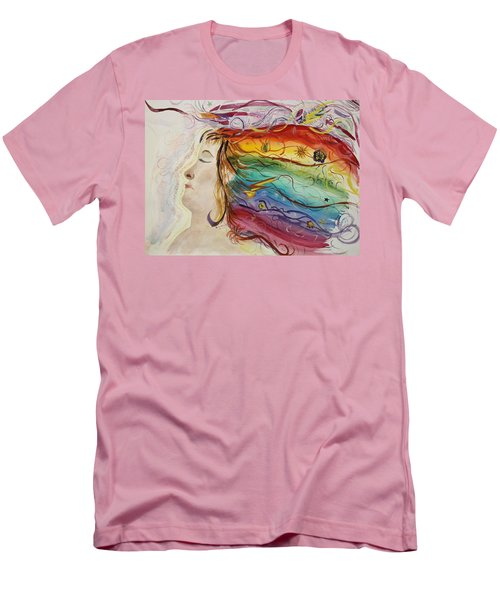 Men's T-Shirt (Slim Fit) featuring the painting Awakening Consciousness by Donna Walsh