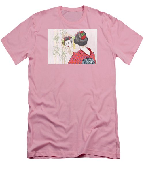 Ayano -- Portrait Of Japanese Geisha Girl Men's T-Shirt (Athletic Fit)
